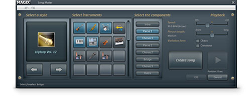 MAGIX Music Maker Soundtrack Edition Screenshot