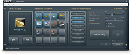 MAGIX Music Maker Rock Edition Screenshot