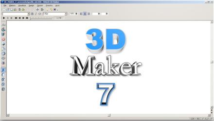 Programma per grafica 3d 3d maker 7 for Immagini tridimensionali gratis